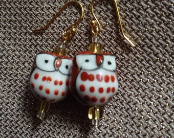 Cute owls earrings
