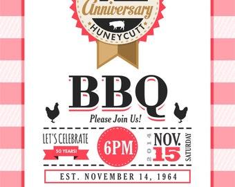 50th Anniversary BBQ Invitation DIY