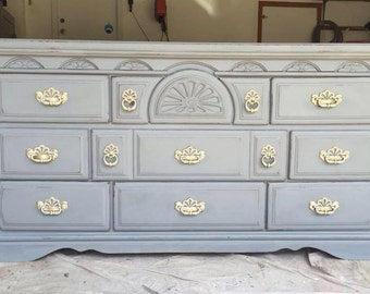 Shabby Chic Grey Dresser/ Buffet/ entry way/ Tv Stand