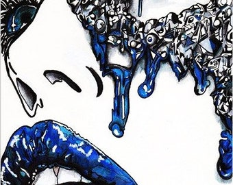 "Original 8x10 Illustration on board- ""Diamond in Despair"""