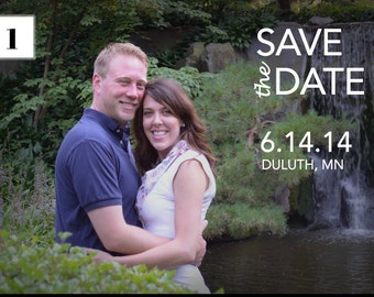 Printable Save the Date with Pictures and Photos - Custom PDF