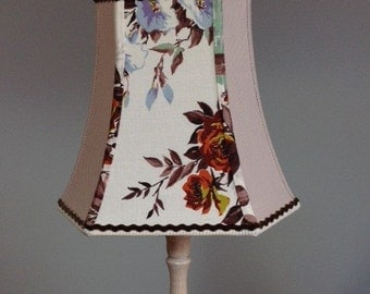 Gorgeous lampshade made with vintage rose fabric