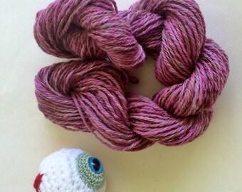 Handspun Hand Dyed DK Weight Wool Yarn 86 Yards, 1.1 Ounce, 79 Meters - Monster Spawn