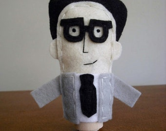 Ira Glass Finger Puppet - Free shipping!