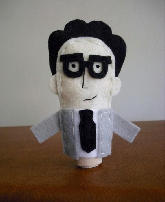 Ira Glass Finger Puppet - Free shipping!