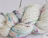 Handspun Yarn - Lovingly Spun - Fairy Wings - DK/Worsted Weight Thread Plied Single - 116 Yards