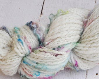 Handspun Yarn - Lovingly Spun - Fairy Wings - DK/Worsted Weight Thread Plied Single - 116 Yards