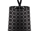 Car Trash Bag // Auto Trash Bag // Car Accessories // Car Litter Bag // Car Garbage Bag - Black and White Rings