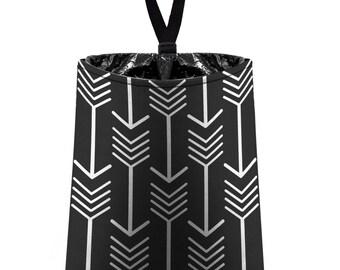 Car Trash Bag // Auto Trash Bag // Car Accessories // Car Litter Bag // Car Garbage Bag - Arrows (black) // Car Organizer