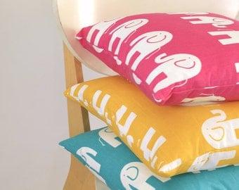 Retro Funky Elephant Children's Cushion