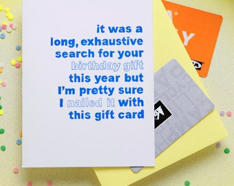 Gift Card Birthday Card