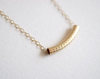 Gold Minimal Necklace with 14K Gold-fill Chain (Sierra)