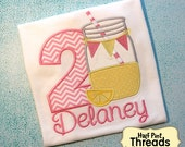 CUSTOM ORDER Personalized Lemonade Second Birthday Shirt or Bodysuit Photo Prop