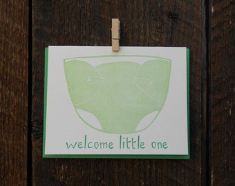 Welcome Little One Letterpress Card
