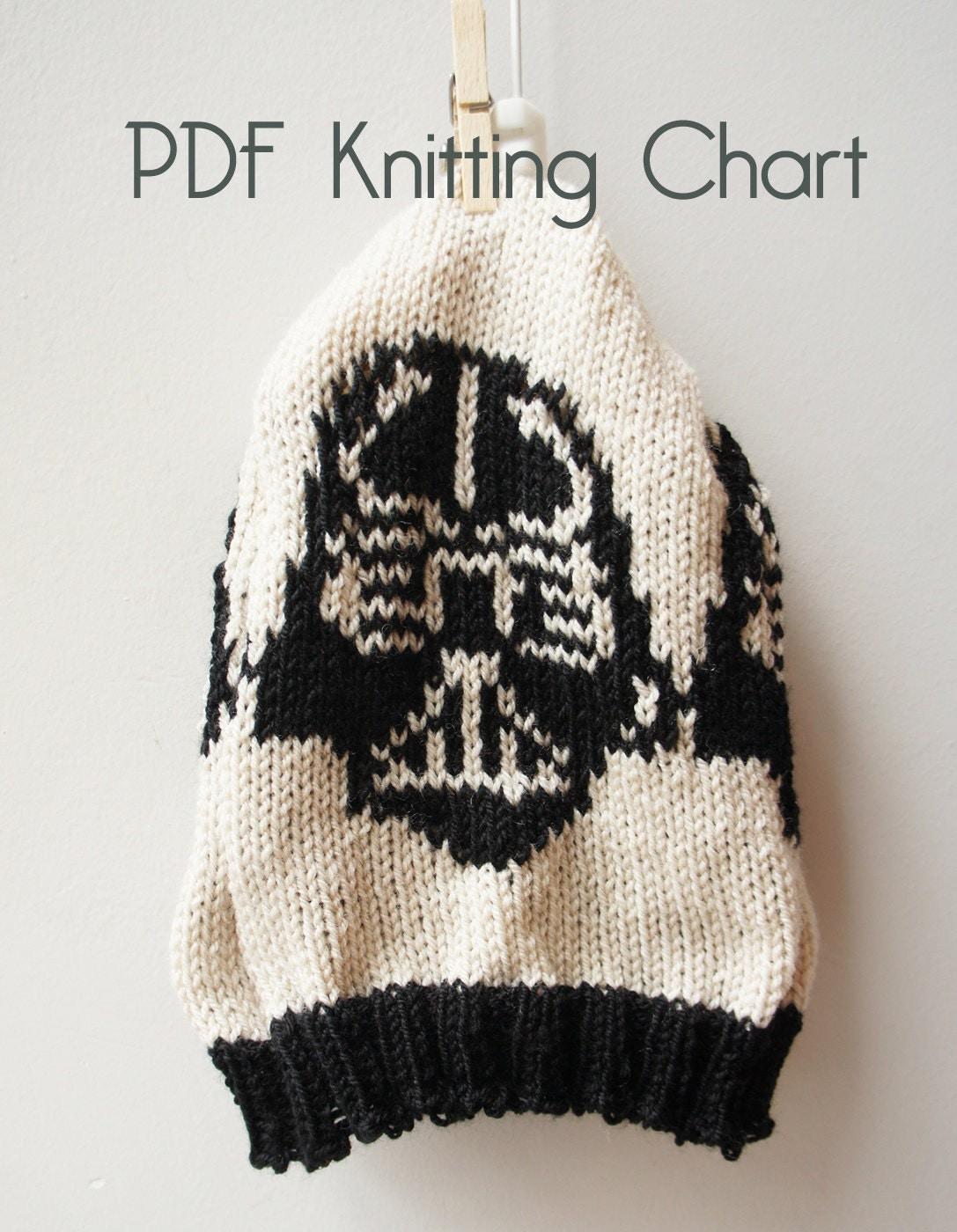 Knitting Pattern Darth Vader Hat : Darth Vader Knitting Chart for Knitting Machine by mandalinarossa