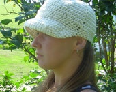 CLEARANCE-Newsboy Hat -Cream Off White