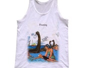 Floating Tank Top - Funny Swimming With Dinosaurs Shirt - Mens and Ladies Sizes Small-3X