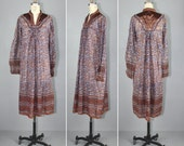 india dress / cotton gauze / 1970s / AMBERGRIS bohemian festival dress