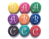 Letter Magnet, Pin, or Pocket Mirror - Your Choice - Alphabet Magnet, Pinback Button, Initial Pin, Monogram Bookmark, Personalized Keychain