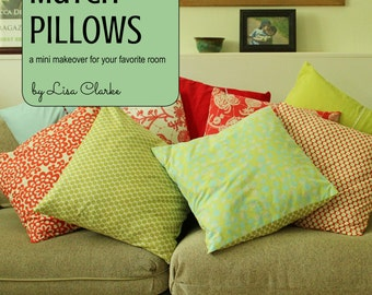 Mix and Match Pillows Sewing Pattern and Tutorial