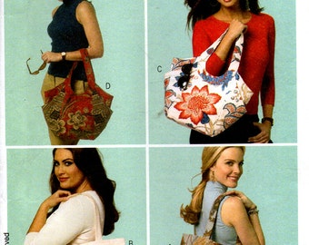 Uncut // MISSES BAGS TOTES // Lined // Inside Pockets // Snap Closure // Fabric Purses Handbags // Waverly // Butterick 5658