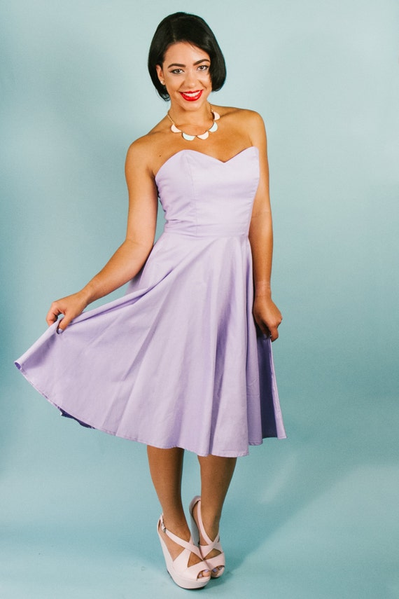 """Sweetheart Floral """"Hey Jenni"""" Dress with Full Circle Skirt Strapless"""