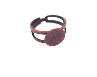 50 10mm copper ring blanks