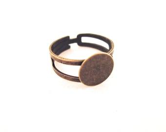 40 10mm brass ring blanks