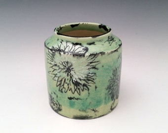 Ceramic Vase with Chrysanthemum