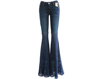 Made to Order - Add Super Wide Bellbottoms to Your Own Jeans - Crochet Pants