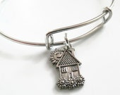 Adjustable Expandable House Charm Bracelet