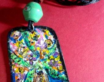 Boho necklace original painting