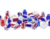 David Christensen Beads Red, White and Blue Chub Variety Mix M192