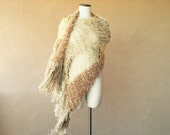 Authentic Stevie Nicks Shawl in GDW Shawl Colors (Gold Dust Woman Shawl) Gold Shawl with Fringe (Designer Stevie Nicks Shawl Contest Winner)