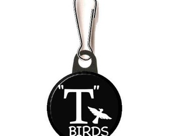 """Grease T-Birds Image  1""""  or 1.25"""" Zipper Pull"""