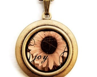 Joy - Photo Locket Necklace - Collaboration with Julie Chen of lifeverse