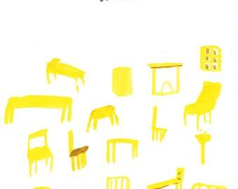 Tiny Furniture - Lena Dunham - Original wonky movie poster painting