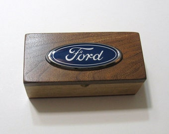 Ford Treasure Box Made From Three Woods