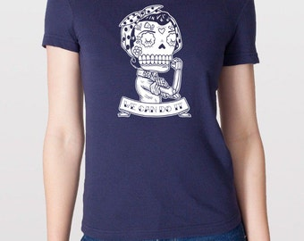 Rosie the Riveter Calavera Womens T-Shirt Small, Medium, Large, X-Large in 5 Colors