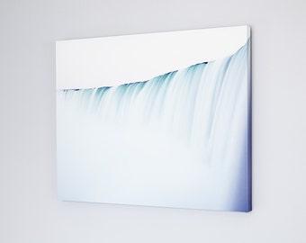 Niagara Falls Canvas Art - Niagara Falls Landscape Photography - Large Wall Art Canvas - Waterfall Photography - Minimalist Blue Canvas Art