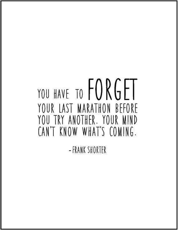 items similar to marathon running quote typography print