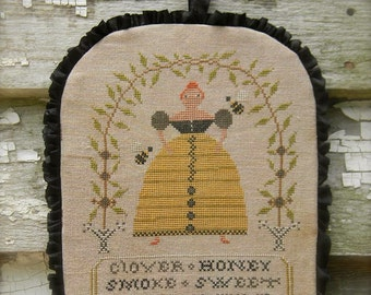 BEEkeeper - cross stitch PAPER PATTERN - from Notforgotten Farm