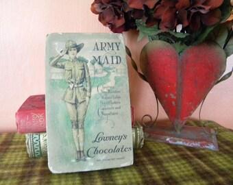 Vintage Candy Box WW1 Army Maid Chocolates Military Theme