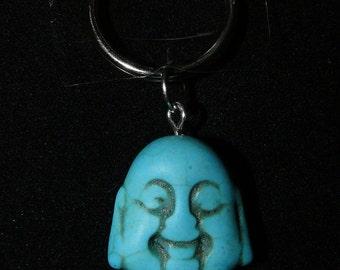 Howlite Buddha Color Bead Keychain