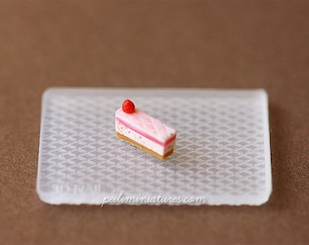Dollhouse Miniature Pattern Silicon Mold 2 - Cake Decoration Mold
