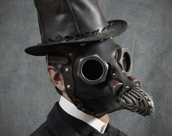 Miasma with Lenses, Steampunk Plague Doctor Mask