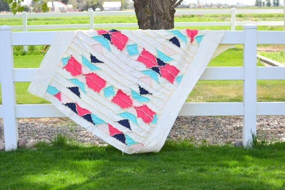 Rag Quilt Patterns For Twin Bed : Aztec Rag Quilt Pattern for Twin Quilt Size by avisiontoremember
