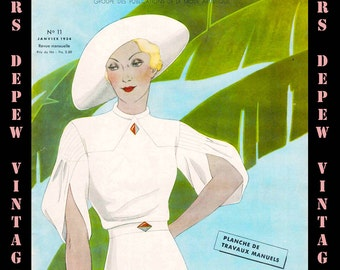 Vintage Sewing and French Haute Couture Fashion Magazine Preferences from 1934- INSTANT DOWNLOAD