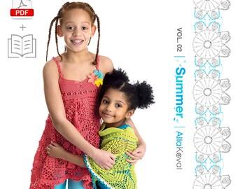 PAPERBACK + DIGITAL PATTERNS Book Imagical Seasons: Summer, vol. 02; Crochet Couture for Kids 2-12 Pdf eBook Craft