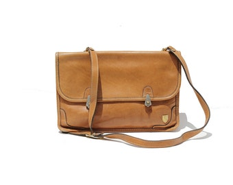 Toffee Cream Tan Leather Shoulder or Clutch Bag